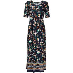 Sami & Jo Womens Short Sleeve Floral Wrap Maxi Dress