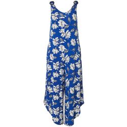 Sami & Jo Womens Sleeveless Floral Print Jumpsuit