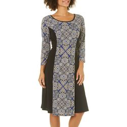 Sami & Jo Womens Medallion Print Panel Dress