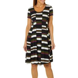 Sami & Jo Womens Retro Block T-Shirt Dress