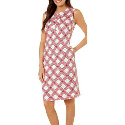 Sami & Jo Womens Sleeveless Quatrefoil Dress