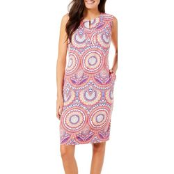 Sunsets and Sweet Tea Womens Boho Circle Shift Dress