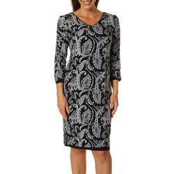Sami & Jo Womens Paisley Print Reversible Dress