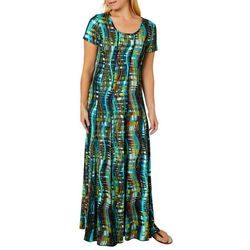Sami & Jo Womens Geometric Print Panel Maxi Dress