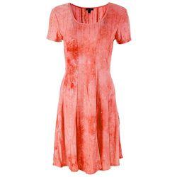 Sami & Jo Womens Embellished Tie Dye Dress
