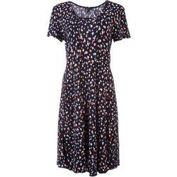 Sami & Jo Womens Confetti Midi Short Sleeve Dress