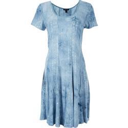 Womens Beaded Short Sleeve Dress