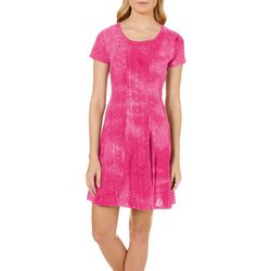 Sami & Jo Womens Gomez Embellished Tie Dye Dress