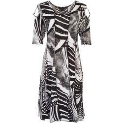 Sami & Jo Womens Beaded Sleeve Short Sleeve Dress