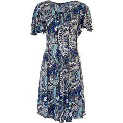 Sami & Jo Womens All Over Paisleyl Midi Dress