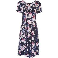 Sami & Jo Womens 3-Ring Design Floral Midi Dress