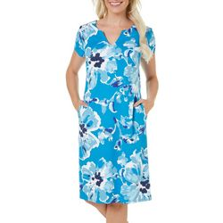 Sami & Jo Womens Painterly Floral Print Dress