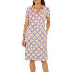 Sami & Jo Womens Tile Print Dress