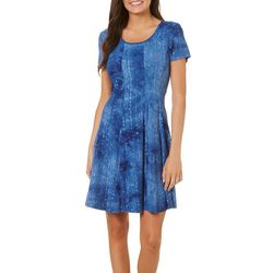 Sami & Jo Womens Tie Dye Sequin Gomez Dress