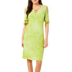 Sami & Jo Womens Cold Shoulder Tie Dye Gomez Dress