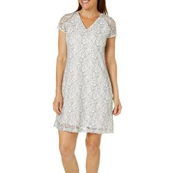 ABS Womens Floral Lace Sundress