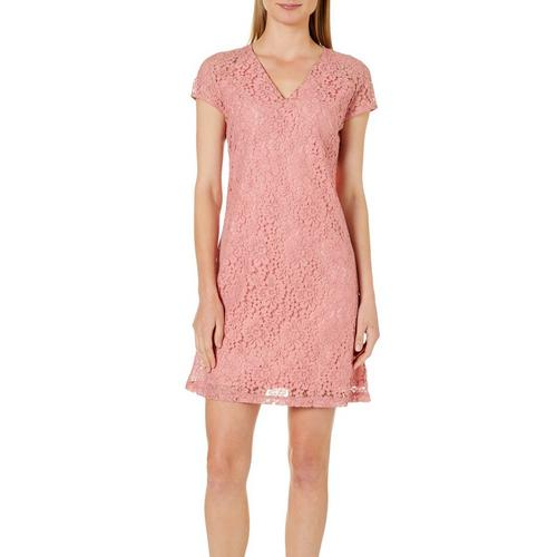d0c97e999e3d ABS Womens Floral Lace Shift Dress | Bealls Florida