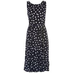 ILE NY Womens Polka Dot Midi Dress With Textured Look