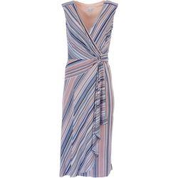 Robbie Bee Womens Dot Printed Scrunch Detail Sleevless Dress