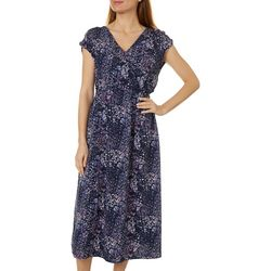 Bobeau Womens Daisy Surplice Woven Dress