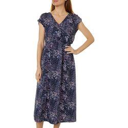 Bobeau Womens Daisy Surplice Woven Dress