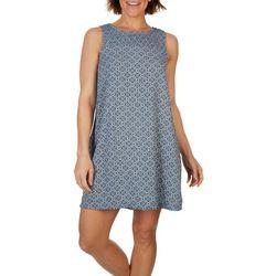 Maison D Amelia Womens Smocked Neck Sleeveless Dress