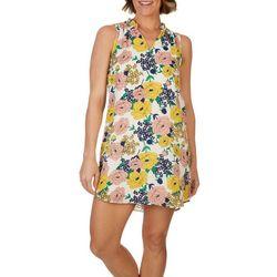 Carolina Belle Womens Floral Flowy Sleeveless Dress