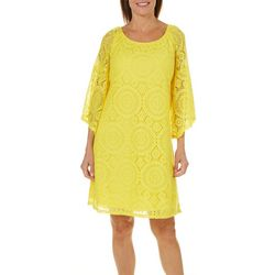 Tacera Womens Medallion Lace Shift Dress