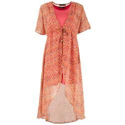 Womens Printed Cafta & Solid Tank Dress