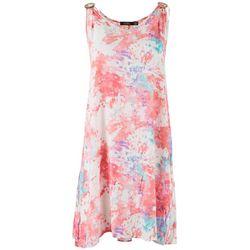Cure Apparel Womens Tie-Dye Sleeveless Dress