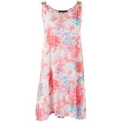 Womens Tie-Dye Sleeveless Dress