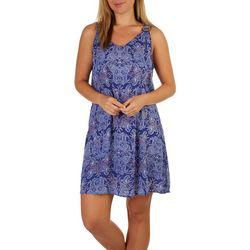 Cure Apparel Womens Paisly Print Sleeveless Dress