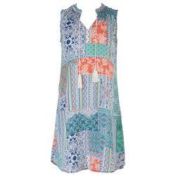 Cure Apparel Womens Patchwork Sleeveless Dress