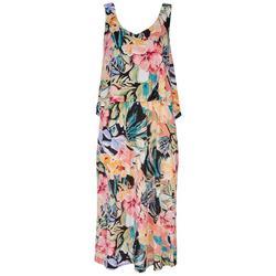 Womens Tiered Midi Dress