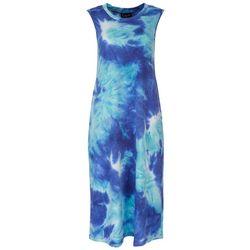 Connected Apparel Womens Tie-Dye Tank Dress
