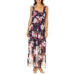 Connected Apparel Womens Floral Walk Through Maxi Dress