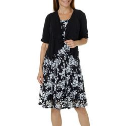 Perceptions Womens Floral Lace Jacket Dress