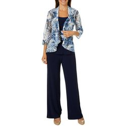 Perceptions Womens 3-pc. Mixed Animal Print Shrug Pant Suit