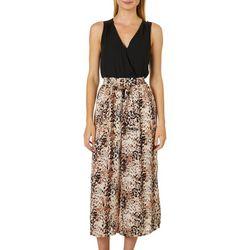 Luxology Womens Mixed Print Smock Waist Jumpsuit