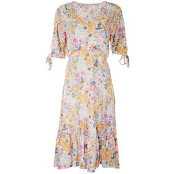 Luxology Womens Floral Print Flowy Dress