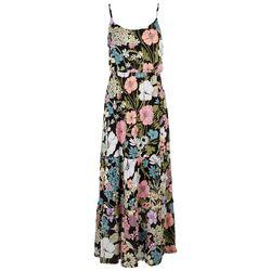 Luxology Womens Floral Ruffled Empire Dress