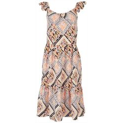 Luxology Womens Printed Sleevless Dress