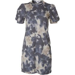Luxology Womens Short Sleeve Knit Tie Dye Dress