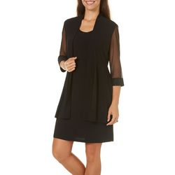 R & M Richards Womens 2-pc. Shimmer Jacket & Dress