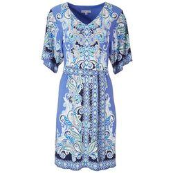 Sandra Darren Womens Textured Paisley Dress