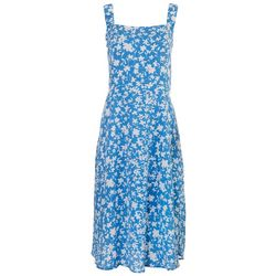 Sandra Darren Womens Scrunched Shoulder Straps Dress