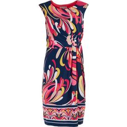 Sandra Darren Womans Floral Design Dress