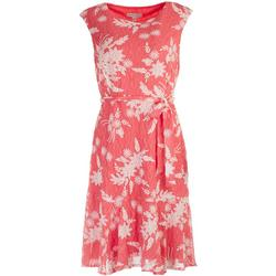 Womens Printed Lace Wrap Tie Front Dress