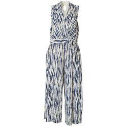 Sandra Darren Womens Tie Dye Print Jumpsuit