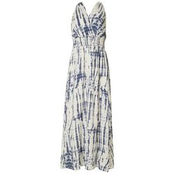 Sandra Darren Womens Tie Dye Print Smocked Maxi Dress